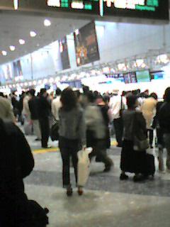 新千歳空港にて。