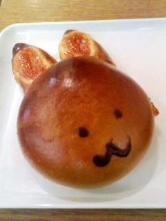 本日のうさぎパン。