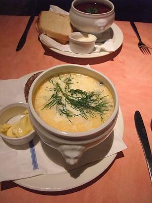 サーモンのスープ